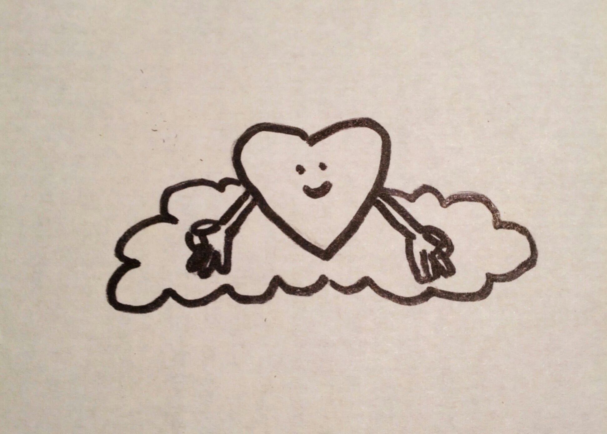 happy meditating heart